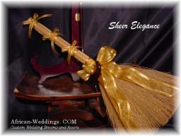 Sheer Elegance Wedding Broom