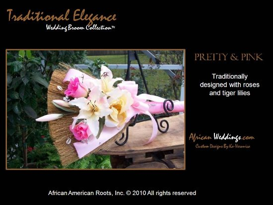Pretty & Pink Wedding Broom