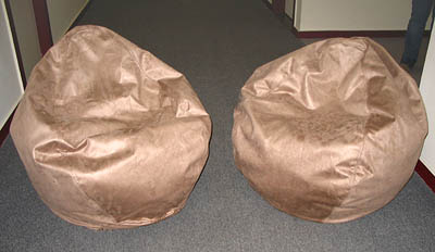 Faux Suede Beanbag chairs