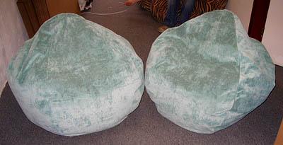 Soft Green Bean Bags