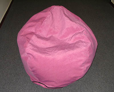 Pink bean bags