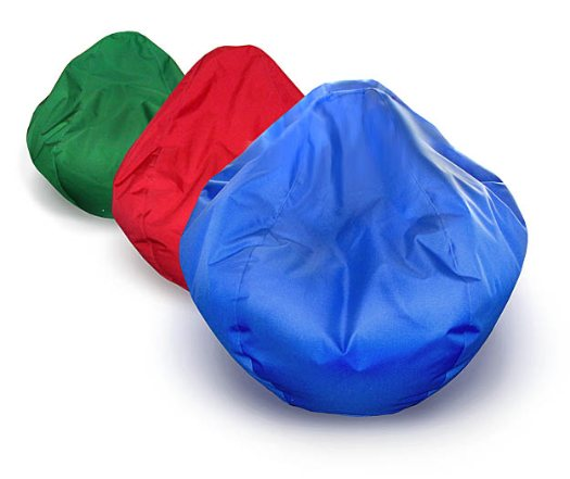 Green, Red and Blue Bean Bags