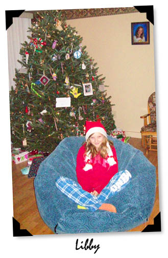 Bean Bag under a Christmas tree