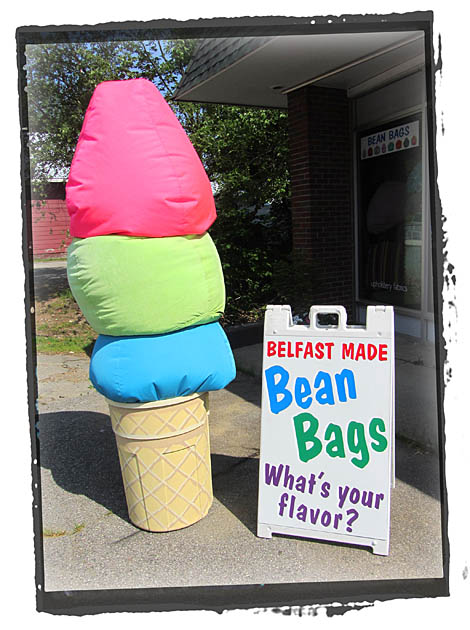 Icecream cone flourescent bean bags
