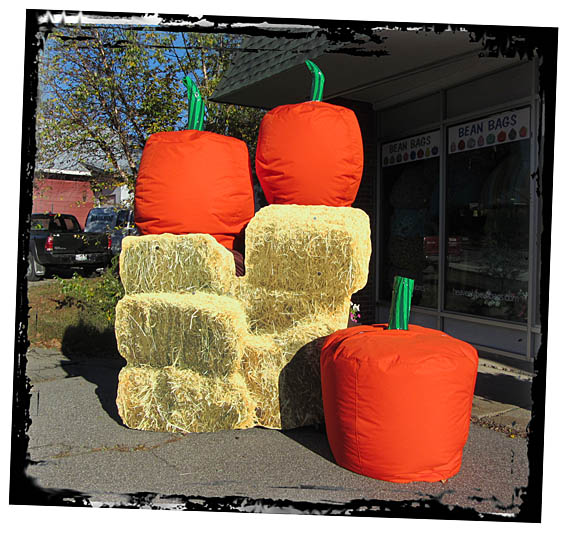 Pumpkin Orange Bean Bags