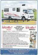 Why Buy A New or Used Walkabout  Motorhome