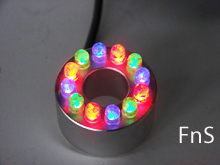 LED Fountain Light, Color Ring Light,slow changing colors,red,blue and green