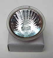 20 watt reflector halogen bulb with a 2 pin base, 4g base
