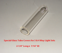 Clear glass tube cover for 3 and 4 way tube lights