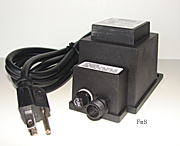 60 Watt outdoor transformer, weather tight, accepts a 2 pin power cord, 12 volt
