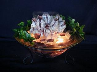 Illuminated Barnacle Tabletop Fountain