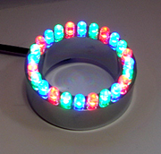 24 Color red,blue and green ring LED light,out of water light,under water light