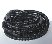 Flexible tubing for fountains, non kink tubing, black ridged tubing