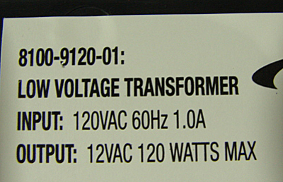 What the output for a low voltage transformer looks like