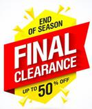 CLEARANCE SALE. UP TO 75% OFF.